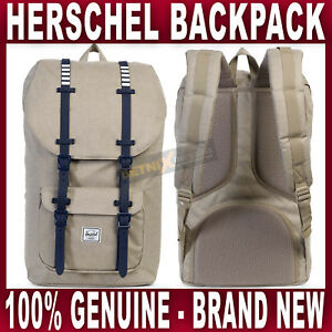 Herschel BACKPACK Little America khaki crosshatch peacoat bag rucksack navy NEW