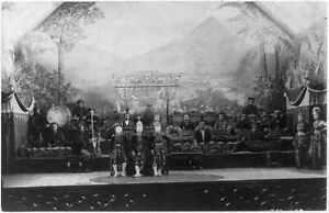 Javanese Gamelan Orchestra,Topeng Masked Dancers,World's Columbia Expo,c18 6373