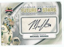 11/12 BETWEEN THE PIPES GOALIEGRAPH AUTOGRAPH AUTO MICHAEL HOUSER KNIGHTS *49821