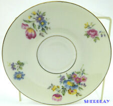 Theodore Haviland New York Pasadena Footed Saucer Only Flowers Gold Trim