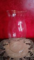 Lamp Shade Globe Clear Glass Hurricane Chimney Candle Cover or Craft