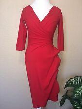 Brand New La Petite Robe Di Chiara Boni Red Florien Dress Sz 6 $696