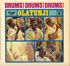"""OLATUNJI """"DRUMS ! DRUMS ! DRUMS !"""" PERCUSSIONS AFRICAINES 60'S LP ROULETTE"""