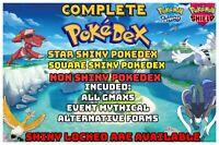 Pokemon Sword Shield Complete Pokedex Shiny + Non Home  FAST DELIVERY