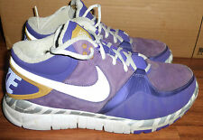 RARE NIKE TRAINER 1.3 MID RIVALRY 512259-517 LSU PURPLE GOLD SNEAKERS SHOES 10
