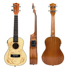 Kmise Solid Concert Ukulele Spruce Electric Acoustic Hawaii Guitar 23 Inch