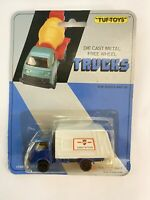 Vintage TUF- TOYS Die Cast Metal Free Wheel Trucks Refuse Truck New Carded (621)