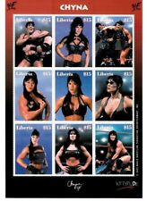 """Liberia 2000 - """"Chyna"""" - Sheet of 9 Wrestling Stamps MNH"""