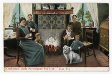 AK Ostfriesland Verlag Bartels Leer 1909 gelaufen 1910 Tee Teekultur tea