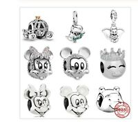 Charms Ciondoli Mickey Minnie Dumbo Argento 925 Tipo Simil Pandora