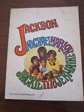 JACKSON FIVE 1970 Concert Program Michael Jackson