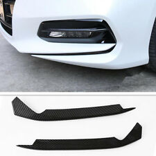 Carbon Fiber Style Front Fog Light Eyebrow Clip Cover Trim For Honda Accord 2018
