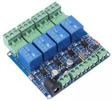 Módulo de relé de 4 canales sistema STM8S10F3 RS485 tablero de módulo DC12V de comunicación