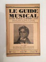 Le Guide du Musical supplément mensuel au Guide du concert n°5 1930