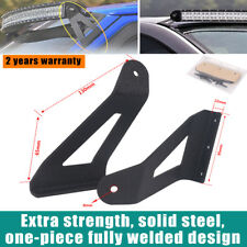 "Curved 52"" Led Light Bar Windshield Roof Mount Bracket For Dodge Ram 1500 2500"