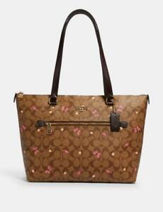 Coach 2712 Gallery Tote In Signature Canvas With Butterfly Print