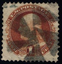 Scott #112 - VF - Buff - Franklin - 1c Used - Tear - 1869