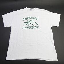 Stetson Hatters Gildan Short Sleeve Shirt Men's White Used