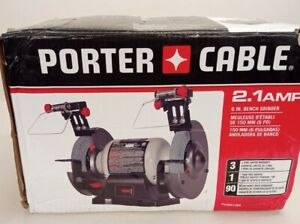 New!! PORTER-CABLE PCXB515BG 6 inch 2.1A Bench Grinder