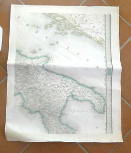 MAPPA NAUTICA ANTICA CALABRIA PUGLIA MARINA NAVIGAZIONE NAVE ADRIATICO  LLOYD