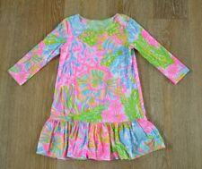 Lilly Pulitzer Girls Seascape Dress Size M(6-7) EUC