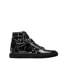 Balenciaga Men's Black White Marble-Print Leather High Top Sneaker 43 US 10 $665