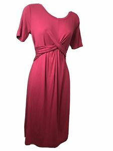 Isabel Maternity Ruched Front T-Shirt Dress Rose Size (XS)
