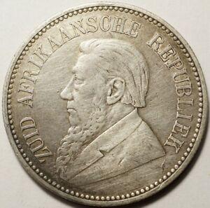 AFRIQUE DU SUD : RARE 2 1/2 SHILLINGS ARGENT 1892 (16.000 ex)