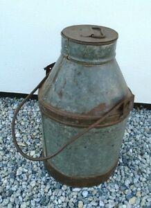 "18"" Vintage Metal Milk Churn Handle Lid Stick Umbrella Stand Garden Planter Prop"
