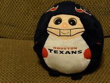 "Retired 2012 TY Beanie Ballz HOUSTAN TEXANS 8"" Plush Ball NFL (*62)"