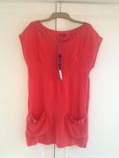 Orange/red M&S Limited Collection Silk Dress. Size 8