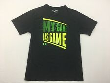 Under Armour Boys T-Shirt My Game Has Game Sports Heat Gear YSM/JP/P Loose Black