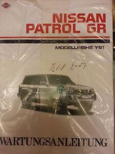 Werkstatthandbuch Nissan Patrol GR Y61 1998, 99, 00, 01, 02, 03, 04, 05 - 09