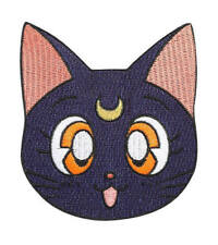 Sailor Moon Patch (3.5 Inch) Black Luna Cat Embroidered Iron on Badge Applique