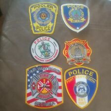 Lot Of 6 Savannah Georgia Area Police And Fire Department Patches