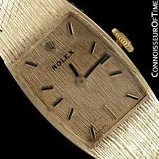 1970's ROLEX Ladies Vintage Dress Bracelet 14K Gold Watch - Minty with Warranty