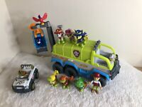 Paw Patrol Jungle Cruiser Truck Figures Playset Bundle Tracker Vechiles rare