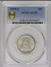 1875-S 20 Cents. PCGS AU 55