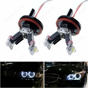BMW LED Angel Eyes H8 12W Blanc E60 E61 E63 E64 E82 E87 E90 E91 E92 E93 X5 X6 Z4
