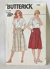 Butterick sewing Pattern 4988 Fast & Easy Sizes 8-10-12 UNCUT Misses skirt