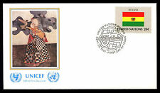 United Nations 1980 Bolivia Flag UNICEF FDC Cover #C11505