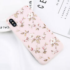 For iPhone X 8 6 5S Cute Floral Pattern Rubber Soft TPU Silicone Back Case Cover