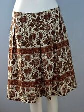 BANANA REPUBLIC Size 2 100% Silk Multi-Color Floral Pleated Fully Lined Skirt