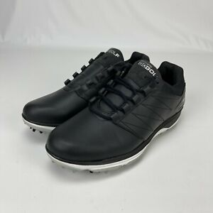 Skechers Mens Go Golf Pro V4 Black Lace Up Golf Shoes Cleats Size 9.5