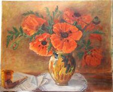 Peintures du XXe siècle et contemporaines sur toile en fleur, arbre pour Art déco