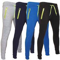 Pantaloni Tuta Uomo  Sport Made Italy Slim Fit S M L XL Blu Grigio Azzurro Nero