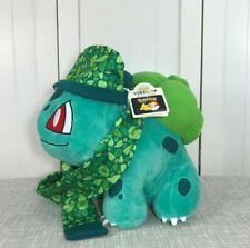 💜 NEW Build a Bear Pokemon Bulbasaur Plush w/ Hat Scarf & Sound 💜