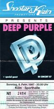 Deep Purple - RARE used Concert Ticket 1987 - Perfect Strangers House Of Blue