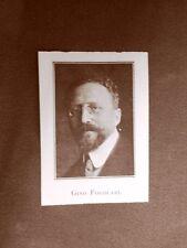 Stampa del 1923 Gino Fogolari Collaboratore dell'Illustrazione Italiana