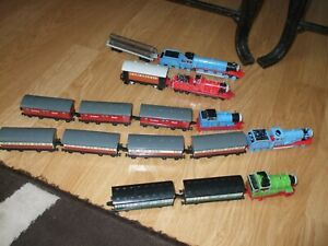 ERTL Thomas the Tank Toy Bundle - Trains,Carriages,Mail Coaches, Trailer & Logs